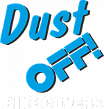 Dust Off Bike Covers Logo White